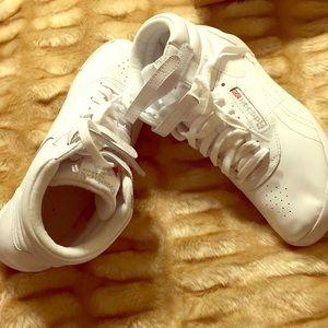 Reebok classic hi-top sneakers